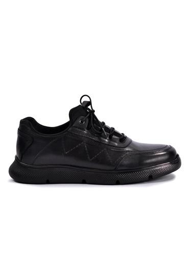 Dr.Flexer 390006 Siyah Hakiki Deri Casual Erkek Ayakkabı Siyah
